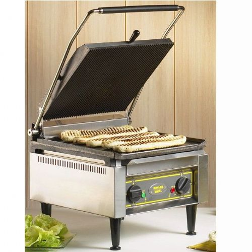 Roller Grill PANINI XLE Extra Large Single - Ribbed Top & Flat Base Plates Contact Grills